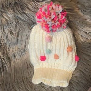 Toddler 2T- 4T girls hat and gloves set- new